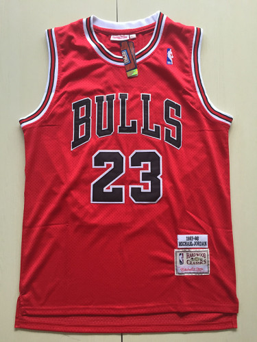 Chicago Bulls 1997-98 Michael Jordan 23 Red Retro Classics Basketball Jersey