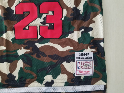 Chicago Bulls 1996-97 Michael Jordan 23 Camo Fashion Edition Basketball Jersey