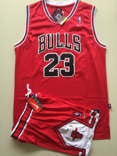 Chicago Bulls Michael Jordan 23 Red Retro Classics Basketball Jersey Kit