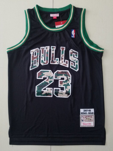 Chicago Bulls 1997-98 Michael Jordan 23 Black Retro Classics Basketball Jersey