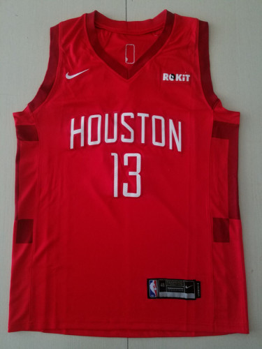 Houston Rockets James Harden 13 Red Basketball Club Player Jerseys