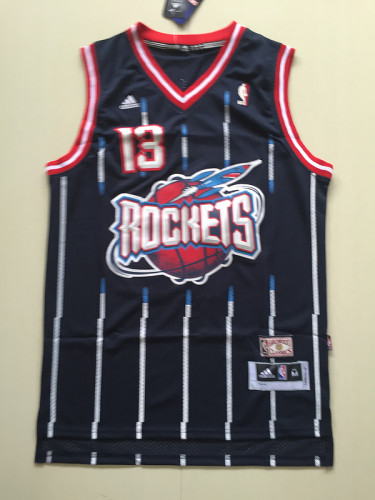 Houston Rockets James Harden 13 Navy Blue Basketball Club Player Jerseys