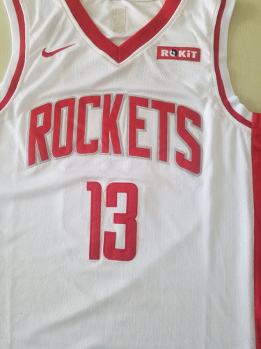 Houston Rockets James Harden 13 White Basketball Club Player Jerseys