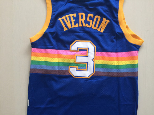 Denver Nuggets Allen Iverson 3 Throwback Classics Basketball Jerseys