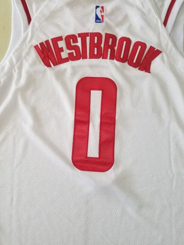 Houston Rockets Russell Westbrook 0 White Basketball Club Player Jerseys