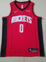 Houston Rockets Russell Westbrook 0 Red Basketball Club Player Jerseys