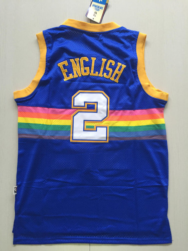 Denver Nuggets English 2 Throwback Classics Basketball Jerseys
