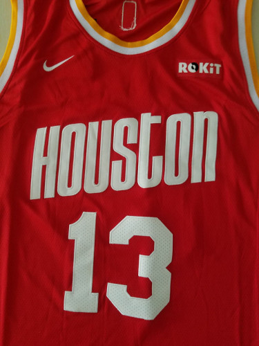 Houston Rockets James Harden 13 Red Retro Classics Basketball Jerseys