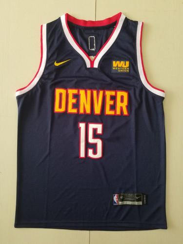 Denver Nuggets Nikola Jokic 15 Navy Blue Basketball Club Player Jerseys