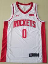 Houston Rockets Russell Westbrook 0 White Basketball Club Player Jerseys