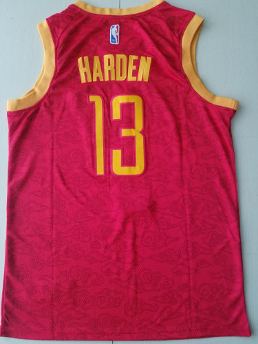 Houston Rockets James Harden 13 Red 火箭 Basketball Club Jerseys