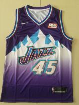 Utah Jazz Donovan Mitchell 45 Basketball Club Player Jersey