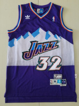 Utah Jazz Karl Malone 32 Purple Throwback Classics Basketball Jerseys