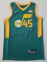 Utah Jazz Donovan Mitchell 45 Green Basketball Club Player Jersey