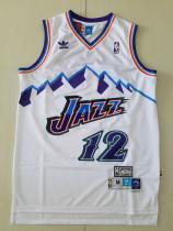 Utah Jazz John Stockton 12 White Throwback Classics Basketball Jerseys