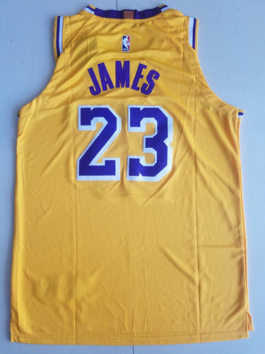 LeBron James 23 Yellow Basketball Club Player Jerseys