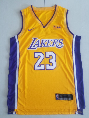 Los Angeles Lakers LeBron James 23 Yellow Basketball Club Player Jerseys
