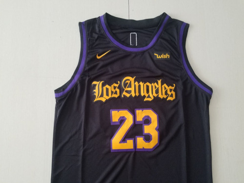 Los Angeles Lakers LeBron James 23 Black Noche Latina Basketball Jerseys