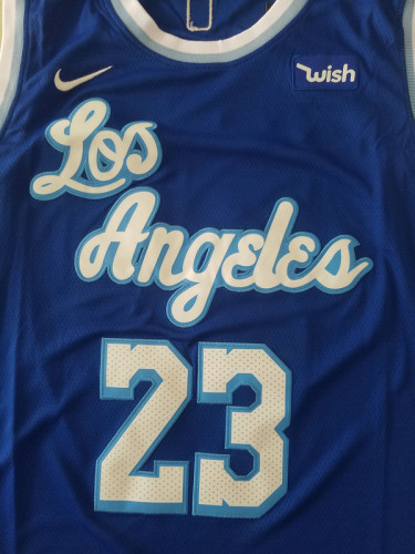 Los Angeles Lakers LeBron James 23 Blue Noche Latina Basketball Jerseys