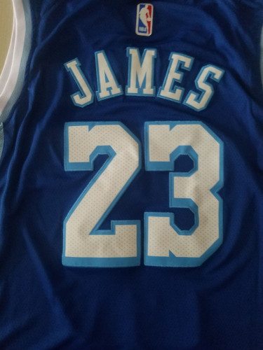 Los Angeles Lakers LeBron James 23 Blue City Edition Basketball Club Jerseys