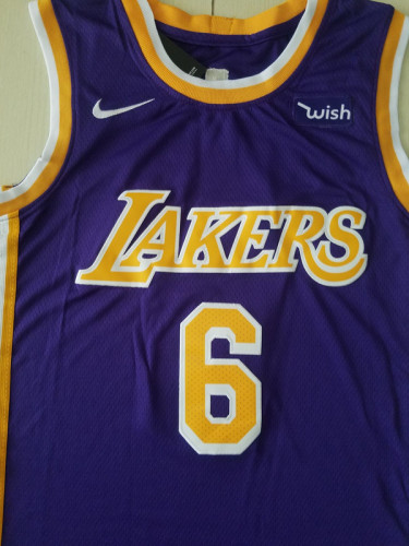 Los Angeles Lakers LeBron James 6 Purple Basketball Club Player Jerseys
