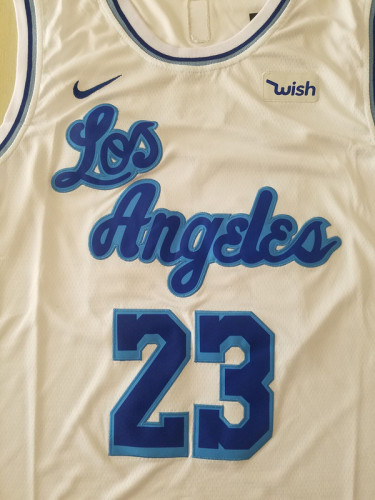 Los Angeles Lakers LeBron James 23 White Noche Latina Basketball Jerseys