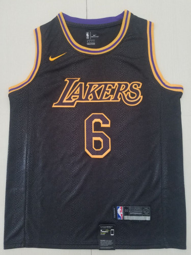 LeBron James 6 Black City Edition Basketball Club Jerseys