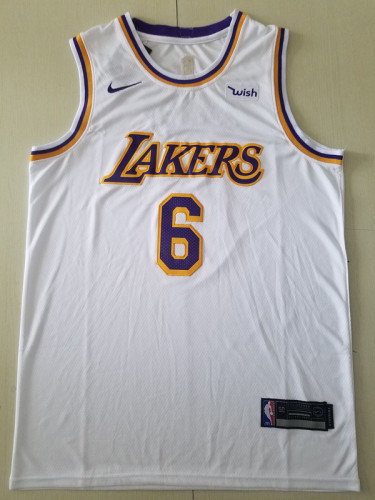 Los Angeles Lakers LeBron James 6 White Basketball Club Player Jerseys