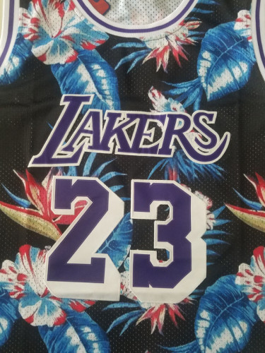 Los Angeles Lakers LeBron James 23 Throwback Classics Basketball Jerseys