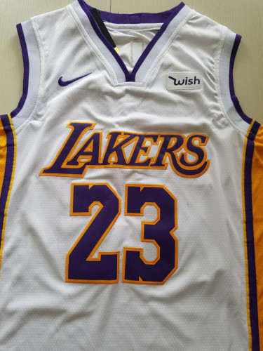 Los Angeles Lakers LeBron James 23 White Basketball Club Player Jerseys