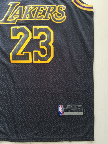 Los Angeles Lakers LeBron James 23 Black City Edition Basketball Club Jerseys