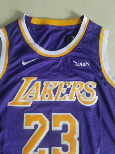 Los Angeles Lakers LeBron James 23 Purple Basketball Club Player Jerseys