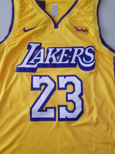 Los Angeles Lakers LeBron James 23 Yellow City Edition Basketball Club Jerseys