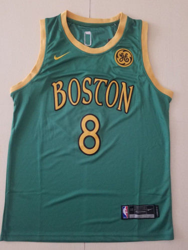 Boston Celtics Kemba Walker 8 Green City Edition Basketball Club Jerseys