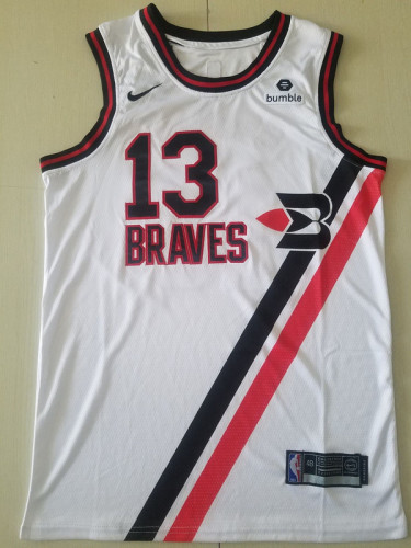 Los Angeles Clippers Paul George 13 White City Edition Basketball Club Jerseys