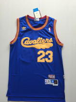Cleveland Cavaliers LeBron James 23 Blue Throwback Classics Basketball Jerseys