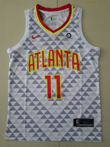 Trae Young11 White Basketball Club Player Jerseys