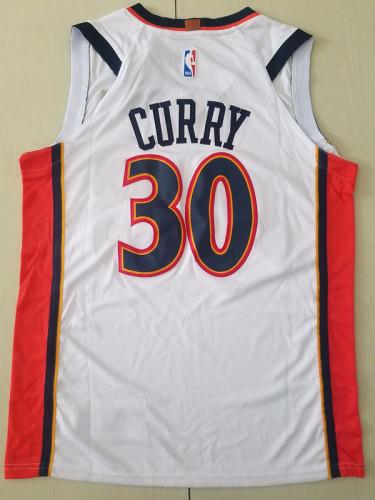 Golden State Warriors Stephen Curry 30 White Retro Basketball Club Jerseys
