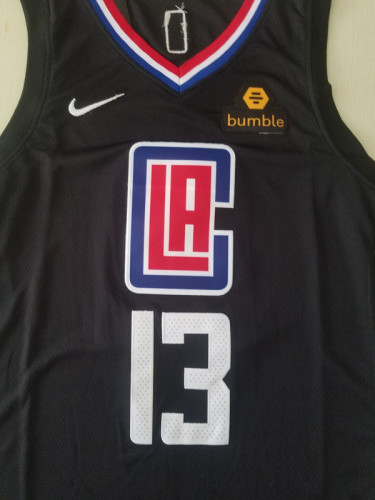 Los Angeles Clippers Paul George 13 Black Basketball Club Player Jerseys