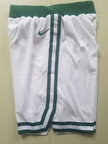 Boston Celtics White Basketball Club Shorts