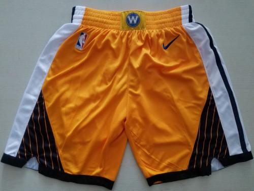 Golden State Warriors  Yellow Basketball Club Shorts