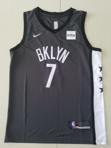 Brooklyn Nets Kevin Durant 7 Black Basketball Club Player Jerseys