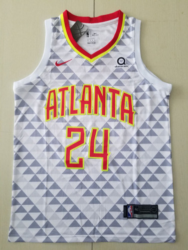 Atlanta Hawks Bruno Fernando 24 White Basketball Club Player Jerseys