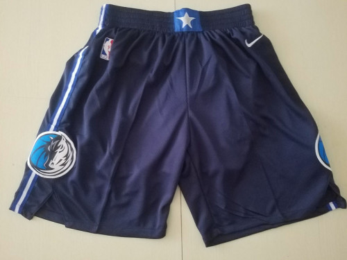 Dallas Mavericks Navy Black City Edition Basketball Club Shorts