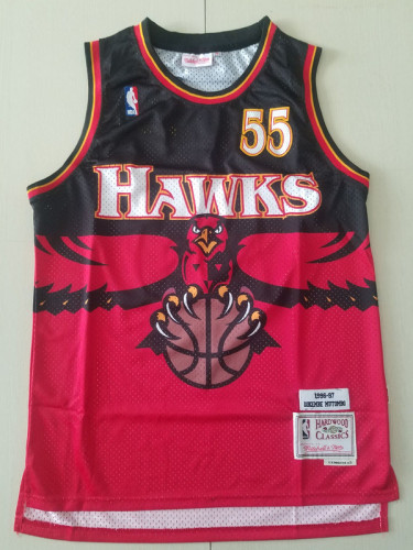 Atlanta Hawks Dikembe Mutombo 55 Throwback Classics 1996-97 Basketball Jerseys
