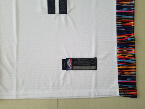 Brooklyn Nets Kyrie Irving 11 White City Edition Basketball Club Jerseys