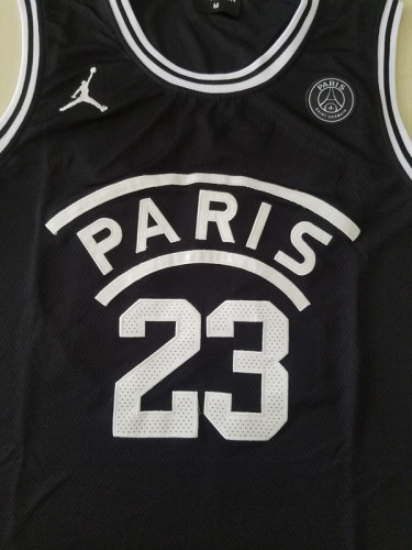 PSG Michael Jordan Black Basketball Jerseys