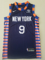New York Knicks R.J.Barrett 9 Navy Blue Basketball Club Player Jerseys