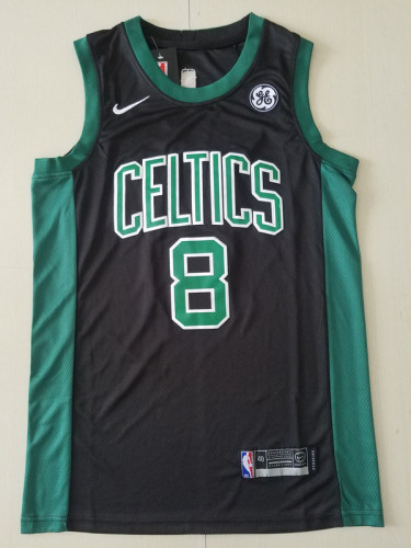 Boston Celtics Kemba Walker 8 Black Basketball Club Player Jerseys