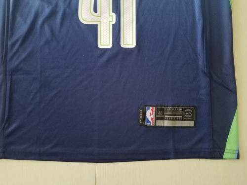 Dallas Mavericks Dirk Nowitzki 41 City Edition Basketball Club Jerseys